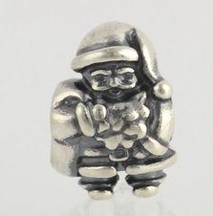 NEW Genuine Pandora Charm Santa 790852 Sterling Silver ALE 925 Christmas Holiday $39.99