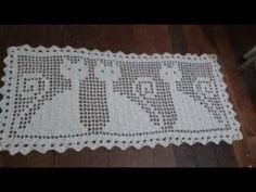 tapete grande com desenho de gatos ( 1 parte ) - professora cristina crochê - YouTube