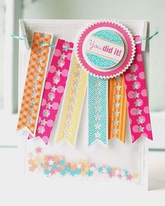 You Did It Banners Card by Betsy Veldman for Papertrey Ink (July 2013)