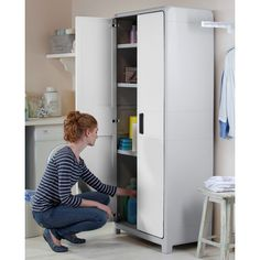 Found it at Wayfair - Optima Wonder Tall Plastic Storage Cabinet