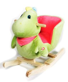 55% OFF ~ $59.99 on sale  Green Dino Ride-On by Catalogue Rockers ~ Many styles to choose from!!