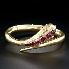 Victorian Ruby Snake Bracelet