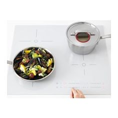 IKEA - BEJUBLAD, Induction hob, 5 year guarantee. Read about the terms in the guarantee brochure.Induction hobs are extremely energy efficient, fast and precise as induction technology transfers energy directly into magnetic cookware.Gives you the flexibility to use larger and different pots for special recipes or occasions as the bridge function allows you to connect 2 cooking zones into 1 large one when needed.The touch and slide control panel allows you to regulate the heat easily and…