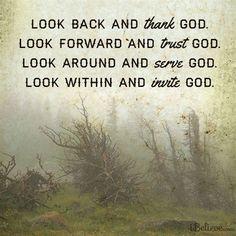 Look Back and Thank God #inspiration #thankfulness #God