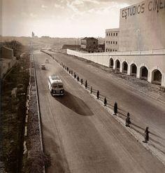 Pista de Barjas, puente de la CEA, actual Avenida America o A-2 carretera de Barcelona