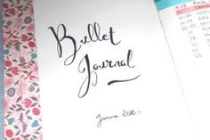 page de garde bullet journal