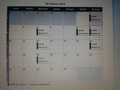 clases impartidas en el mes de febrero 2014 de master y doctorado