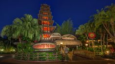 """Tonight's """"After Dark"""" image was shot in Adventureland at Magic Kingdom Park. It's a shot of one of the park's original attractions - Walt Disney's Enchanted Tiki Room."""