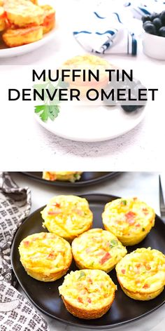 Fast and easy Muffin Tin Denver Omelets are full of ham, peppers and cheese. Perfect for an easy breakfast or snack on the go. Can be frozen too! #eggs #easyrecipe