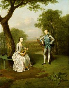 Sir Nathaniel and Lady Caroline Curzon, by Arthur Devis. ©NTPL/John Hammond
