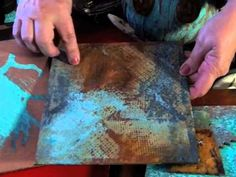 Rust & Patina Style.  Reactive metal paints, Tips and techniques for using VerDay reactive metal paints to create beautiful art, jewelry, accessories and more.
