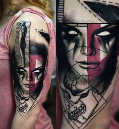 Abstract Face Tattoo by Timur Lysenko   Tattoo No. 12717