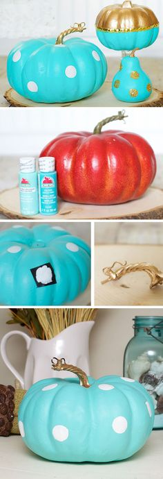Tiffany Inspired Pumpkin | Click Pic for 23 DIY Fall Front Porch Decorating Ideas | DIY Halloween Decor Ideas for the Home
