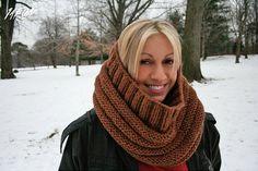 soft mocca scarf brown scarf circlescarf circle scarf by 1AEON, $49.00