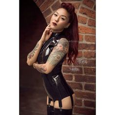 Instagram media by emmaheirim.andersson - From this summers shoot with @beliindab ❤😘 #latex #latexmodel #latexfashion #redhair #tattoo #tattoos #tattoedmodel #ink #inkedmodel #fetisch #straps