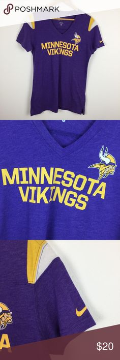 NFL VIKINGS Nike large short sleeve tee shirt Excellent condition like new, women's short sleeve tee with front and back graphics. Nike Tops Tees - Short Sleeve