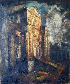 John Piper (1903 – 1992) is considered to be one of the most significant British artists of the 20th Century  1941+Seaton+Delaval,+the+Central+Block++oil+on+canvas+62+x+51+cm+©+The+Piper+estate.jpg (502×600)