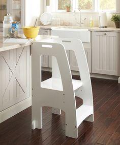 Love this White Step-Up Kitchen Helper on #zulily! #zulilyfinds