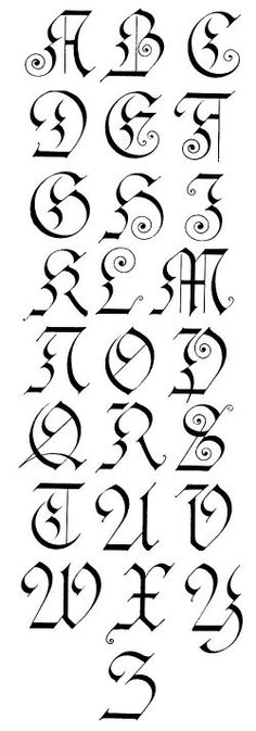 Gothic Calligraphy...works well do to in pencil first