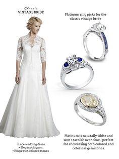 Vintage Wedding Style with Platinum Jewelry — Sponsor Highlight | Wedding Inspirasi