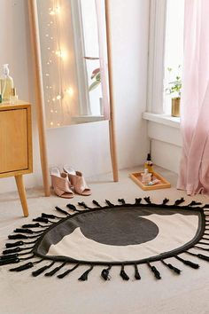 Urban Outfitters Tasseled Eye Rug