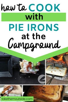 Here's a list of 19 different pie iron recipes perfect for your family camping trip this fall!  These are great for breakfast, supper, and dessert!  You'll find savory and sweet campfire foods here.  #campingfood #campingrecipe