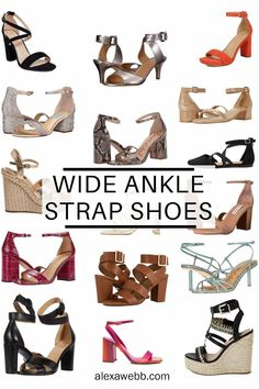 Tips for Shopping for Shopping for Wide Ankle Strap Shoes and Where to Buy Them. Alexa Webb #plussize #alexawebb Strappy Flats, Nude Sandals, Brown Sandals, Stretch Leather Shoes, Rose Gold Wedges, Pewter Sandals, Orange Sandals, Shoe Stretcher, Wide Width Shoes