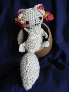 Faust Mephistopheles Madoka Mephisto Cubey toy crocheted Kyubeh with tutorial