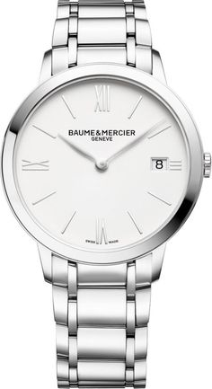 @baumeetmercier  Watch Classima Mens Pre-Order #add-content #bezel-fixed #bracelet-strap-steel #brand-baume-et-mercier #case-depth-5-65mm #case-material-steel #case-width-36-5mm #date-yes #delivery-timescale-call-us #dial-colour-white #gender-mens #limite