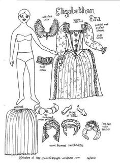 Paper Dolls of Ancient History | Elizabethan Era
