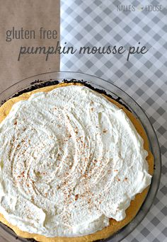 Gluten Free Pumpkin Mousse Pie-- GF chocolate wafer cookies (like GF oreos) for crust | Nalle's House
