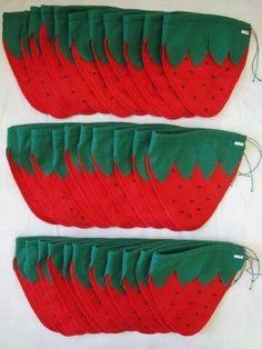 Saquinhos Tela, Watermelon, Sacks, Felt