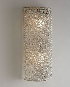 """Horchow Four Hands """"Scattered Crystal"""" Sconce - home decor / iron and crystal wall lighting"""