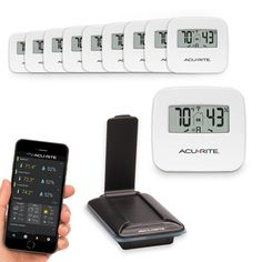 10-Sensor Indoor Humidity and Temperature Smart Home Environment System with My AcuRite