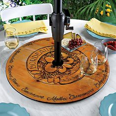 Bordeaux Indoor and Outdoor Lazy Susan at Wine Enthusiast - $89.95