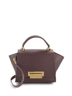 07f45cd6ac0 ZAC Zac Posen Eartha Purple Leather Shoulder Bag 64% off retail