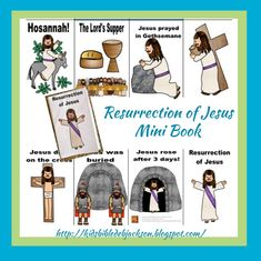 The Resurrection of Jesus Review Task Cards and Mini Book Printables