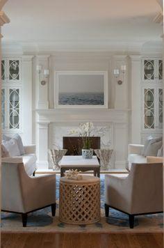 living room design  #KBHome.   Love the lights