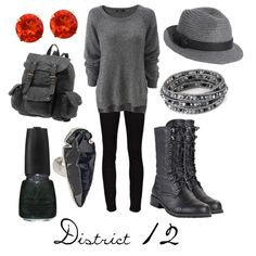 District 12, created by character-inspired-style on Polyvore
