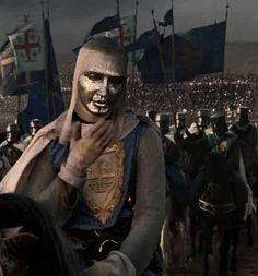 Norton as the masked leper King of Jerusalem.