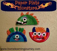Platos de colores, papel para recortar dientes, pelo y cualquier retazo que tengas en casa.