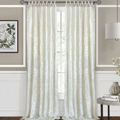 Vickers Harper Criss-Cross Solid Semi-Sheer Tab Top Single Curtain Panel Size per Panel: W x L, Curtain Colour: Creamy White Window Sheers, Sheer Curtain Panels, Panel Curtains, Textured Wallpaper, Wallpaper Roll, Peel And Stick Wallpaper, Mirror Texture, 4 Panel Room Divider, Floral Room