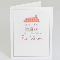 Personalised 'New Home' Card by Violet Pickles, the perfect gift for Explore more unique gifts in our curated marketplace. New Home Cards, House Of Cards, Happy New Home, Cardmaking, Unique Gifts, How To Draw Hands, Recycling, New Homes, Invitations