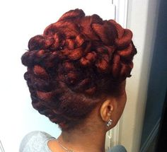 African American twisted updo