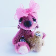 Maggie and Muppet for sale plus postage x Popcorn, Bears, Teddy Bear, Toys, Friends, Sweet, Cute, Handmade, Animals
