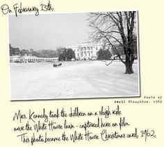 White House Christmas Card 1962. Photographer Cecil Stoughton.