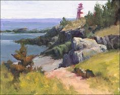 lighthouses plein air paintings - Google Search
