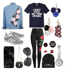 """Untitled #47"" by xsilverartistx on Polyvore featuring Chloé, adidas Originals, Yves Saint Laurent, Nine West, Twig & Arrow, Gucci, GUESS and Beats by Dr. Dre"