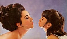 elizabeth Taylor and Daughter, Uploaded By www.1stand2ndtimearound.etsy.com