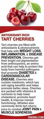Anti Oxidant Rich Cherries..
